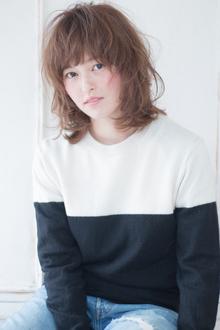 川口春奈風フェミニンレイヤーミックスカールスタイル AKI-236|ALICe by afloatのヘアスタイル