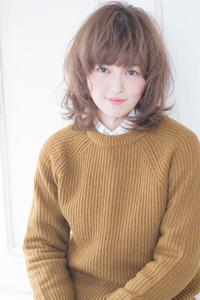 川口春奈風フェミニンフォギーベージュカラースタイル AKI-237
