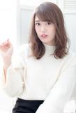 抜け感ゆるふわセミロング【アッシュグレージュ】U-141