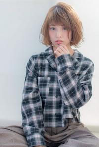 エアリーひし形ボブ【チャコールベージュ】U-157