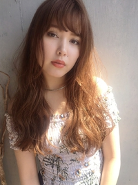 夏髪フェミニンパーマで小顔【y−341】