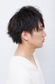 毛先を遊ばせながら束感を出したカジュアルメンズショート【2WAY】