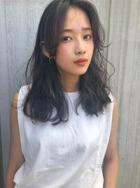 夏髪 ヴェールウェーブ くすみブルージュ