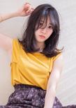夏髪シースルーバングミディ :o303