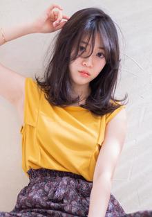 夏髪シースルーバングミディ :o303 ALICe by afloatのヘアスタイル