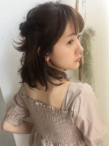 簡単ハーフアップ☆ボブアレンジ【y-374】|ALICe by afloatのヘアスタイル
