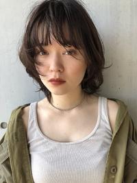 秋は暗髪でカジュアルボブ☆【yー384】