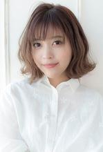 小顔ウェーブミディ【ラベンダーアッシュ】U-197|ALICe by afloat 上田 ヒロツグのヘアスタイル