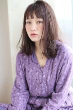 外ハネレイヤーロブ ラベンダーブラウン【y−398】|ALICe by afloat 松盛 友美子のヘアスタイル