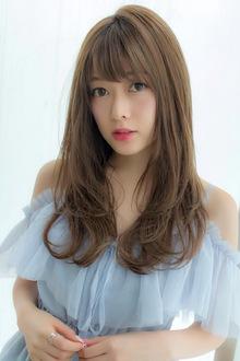 女子アナ風ラフセミディ【シアーグレージュ】U-208|ALICe by afloatのヘアスタイル