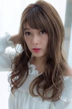女子アナ風ラフセミディ【シナモングレージュ】U-210|ALICe by afloatのヘアスタイル