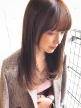 ラベンダーカラーセミロング【yー415】 ALICe by afloatのヘアスタイル