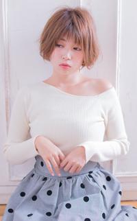ひし形小顔バング柔らかショート  AKI-403