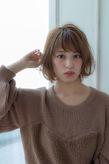 小顔ウェーブミディ【ラベンダーアッシュ】U-218