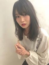 女子アナ風ラフセミディ【シナモングレージュ】U-221|ALICe by afloatのヘアスタイル