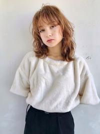 ミルクティーベージュ 小顔ウルフカット【N-143】