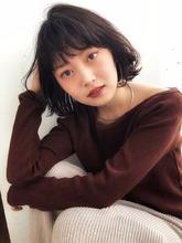 くしゃパーマ お手入れ簡単ボブ【y−431】 ALICe by afloat 松盛 友美子のヘアスタイル