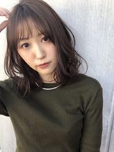 ひし形ミディ シースルーバング【y−432】 ALICe by afloat 松盛 友美子のヘアスタイル
