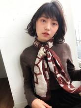 外はね やわふわカールボブ 【y−433】 ALICe by afloat 松盛 友美子のヘアスタイル