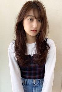 ニュアンスパーマ ツヤ髪ピンクカラーM241