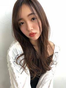 女子アナ風ラフセミディ【シナモングレージュ】U-224|ALICe by afloatのヘアスタイル