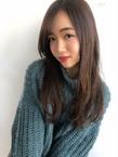 女子アナ風トレンドセミディ【シナモングレージュ】U-225