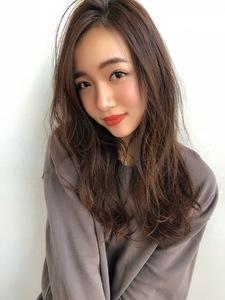 女子アナ風ラフセミディ【シナモンブランジュ】U-227|ALICe by afloatのヘアスタイル
