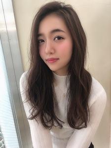 女子アナ風ラフセミディ【シナモンブランジュ】U-230|ALICe by afloatのヘアスタイル