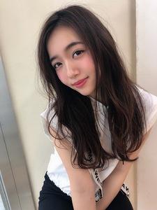 女子アナ風ラフセミディ【シナモンブランジュ】U-232|ALICe by afloatのヘアスタイル