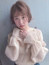 ミルクティーベージュ ショートボブ【y−449】|ALICe by afloat 松盛 友美子のヘアスタイル