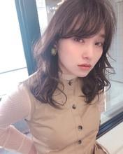 ひし形 デジタルパーマミディ【y−453】|ALICe by afloat 松盛 友美子のヘアスタイル