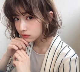 小顔ひし形ヘルシーボブパーマ48