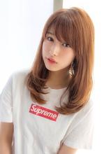 女子アナ風セミディ【シナモンブランジュ】U-241|ALICe by afloatのヘアスタイル