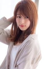 女子アナ風セミディ【シナモンブランジュ】U-242|ALICe by afloatのヘアスタイル