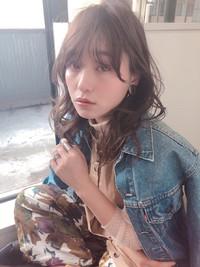 カジュアル パーマひし形ミディ【yー461】