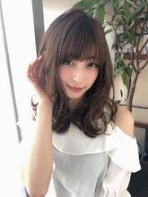 女子アナ風くびれセミディ【シナモンブランジュ】U-248|ALICe by afloatのヘアスタイル