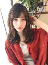 女子アナ風カジュアルセミディ【シナモンブランジュ】U-249|ALICe by afloatのヘアスタイル