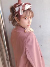簡単おしゃれ スカーフアレンジ 【y−465】