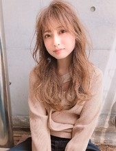 無造作パーマ 薄めの前髪が旬【yー467】|ALICe by afloatのヘアスタイル