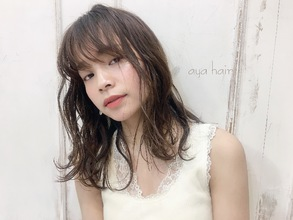 小顔ゆるふわモテパーマ|ALICe by afloatのヘアスタイル
