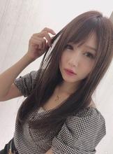 女子アナ風ラフセミディ【シナモンブランジュ】U-263|ALICe by afloatのヘアスタイル
