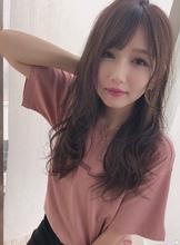 女子アナ風ラフセミディ【シナモンブランジュ】U-264|ALICe by afloatのヘアスタイル