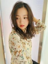 女子アナ風ラフセミディ【シナモンブランジュ】U-266|ALICe by afloatのヘアスタイル