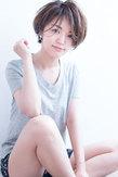 小顔ひし形ツヤ感可愛い夏ショート  AKI-481