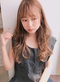 ゆるめニュアンスパーマ シースルーバング【y−484】