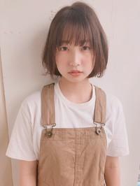 ひし形ショートボブ  シースルーバング【y-485】