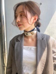ルーズな大人シニヨン ウルフレイヤー【N-200】|ALICe by afloatのヘアスタイル