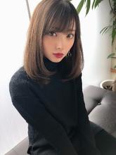 女子アナ風清楚セミディ【シナモンブランジュ】U-272|ALICe by afloatのヘアスタイル