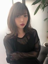 女子アナ風清楚セミディ【シナモンブランジュ】U-273|ALICe by afloatのヘアスタイル