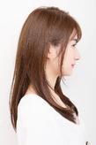 輝くようなツヤ感としなやかなフォルムを発揮した美髪ロング